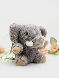 Saco / telefone / keychain charme elefante cartoon brinquedo faux peles