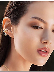 Women's Clip Earrings Cubic Zirconia Cute Style Fashion Bohemian Open Multi-ways Wear Zircon Silver Plated Jewelry For Wedding Gift Daily