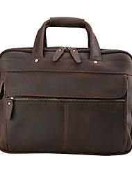 The fashion trend of men's crazy horse multifunctional travel briefcase