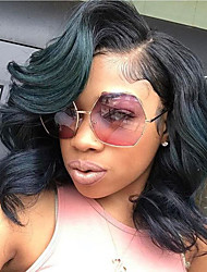 Natural Human Hair Color Body Wave For Black Women Side Part Glueless Lace Front Wigs With Baby Hair