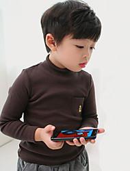 T-shirt Da ragazzo Cotone Tinta unita Con ricami Primavera Autunno Manica lunga Standard