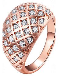 May Polly Europe and America zircon crystal full Diamond Rose Gold fashion lady ring