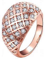 Dámské Midi prsteny imitace drahokamu Módní Růže pozlacená Circle Shape Šperky Pro Párty Denní