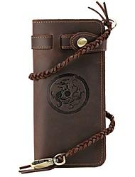 Retro Chinese wind dragon Crazy Horse manual Metrosexual Long Wallet