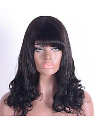 Belle et charmante ondulation naturelle 100% perruques sans cheveux caucasiennes pour femmes sans perruques en dentelle