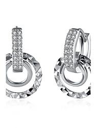Women's Stud Earrings Drop Earrings Hoop Earrings Crystal Cubic Zirconia AAA Cubic Zirconia Hip-Hop Cute Style Simple Style Costume