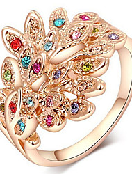 Women's Band Rings Crystal Basic Love Sexy Fashion Personalized Cute Style Luxury Classic Elegant Crystal Alloy Animal Shape Jewelry For