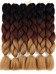 15 Colours Kanekalon Braiding Hair Expressions 24'' 100g Synthetic Jumbo Braids Crochet Hair