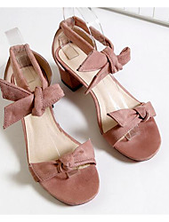Women's Sandals Comfort Nubuck leather Summer Casual Blushing Pink Black 2in-2 3/4in
