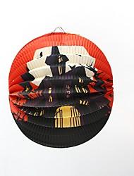 1pc фестиваль украшения Хэллоуин бумага подвеска фонарь украшения случайный стиль