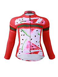 Cycling Jersey Women's Long Sleeves Bike Jersey Fast Dry Quick Dry YKK Zipper High Elasticity Stretchy Polyester Fashion Fruit Summer