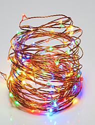10W Cuerdas de Luces 100 lm <5V V 10 m 100 leds Blanco cálido Blanco RGB Rojo Amarillo Azul Verde