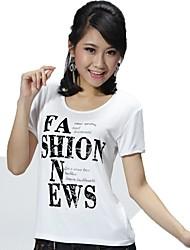 T-shirt Da donna Sport Per eventi Casual Semplice Attivo Primavera Estate,Alfabetico Rotonda Modal Elastene Manica corta Sottile