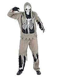 Costumes de Cosplay Squelette/Crâne Zombie Cosplay Fête / Célébration Déguisement d'Halloween Rétro Haut Pantalon Gants Plus d'accessoires