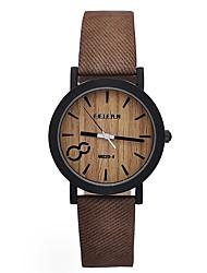 Hombre Mujer Reloj Deportivo Reloj Militar Reloj de Vestir Reloj de Moda Reloj de Pulsera Reloj Casual Reloj Madera Chino Cuarzo