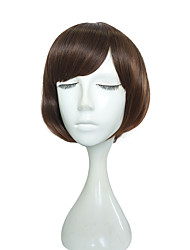 12 inch Short Wig Synthetic Fiber Wig Kinky Straight Hairstyle Wigs For Women High Temperate Fiber Hair