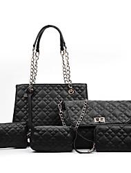 Damen Bag Sets PU Ganzjährig Normal Baguette Bag Reißverschluss Blau Schwarz Rote Silber Gray