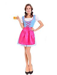 Costumes de Cosplay Bal Masqué Princesse Fête d'Octobre/Bière Cosplay Serveur / Serveuse Fête / Célébration Déguisement d'HalloweenAutres