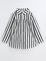 Girls' Stripe Shirt,Cotton Spring Fall Long Sleeve