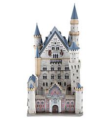 Quebra-cabeças Kit Faça Você Mesmo Quebra-Cabeças 3D Blocos de construção Brinquedos Faça Você Mesmo Arquitetura Madeira Natural