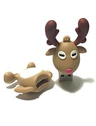 16gb natal usb flash drive cartoon natal cervo natal presente usb 2.0