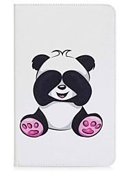 cartera del sostenedor de la tarjeta del patrón de la panda con la caja de cuero magnética de la PU del tirón del soporte para la lengüeta
