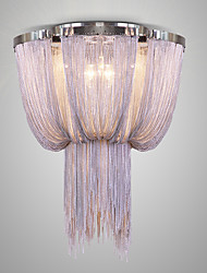 Italy Postmodern Tassel Hanging Lights Nordic Aluminum Chain Luxury Hotel Engineering Circular Lobby Absorb Dome Light In The Living Room
