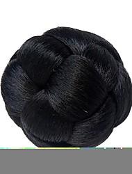 clipe de chignon em cores pretas fibras de alta temperatura peças de cabelo sintéticas acessórios trançado chignon cabelo bun donut para