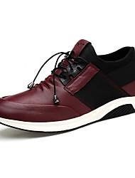 Для мужчин обувь Натуральная кожа Кожа Наппа Leather Осень Зима Удобная обувь Спортивная обувь Шнуровка Назначение Атлетический