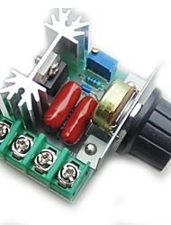 Контроллер контроля скорости двигателя pwm ac 2000 Вт регулируемый регулятор напряжения