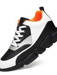 Для мужчин обувь Натуральная кожа Искусственное волокно Кожа Осень Зима Удобная обувь Спортивная обувь Шнуровка Назначение Атлетический
