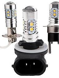 2pcs modèle d'éclairage automobile original led ampoule samsung led h1 h3 h4 h7 h8 h10 h11 9005 9006 5000k ampoule antibrouillard