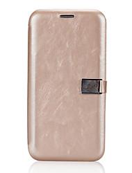 Para iPhone X Carcasa Funda Soporte de Coche Flip Magnética Cuerpo Entero Funda Color sólido Dura Cuero Sintético para Apple iPhone X