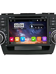 2 din capacitive touch lcd voiture dvd player android 6.0 pour toyota highlander2008-2012
