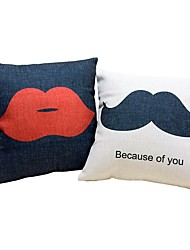 2 pçs Algodão/Linho almofada do sofá Cobertura de Almofada Almofada de Cama Almofada de Corpo Almofada de Vigem,Padrão Design Especial