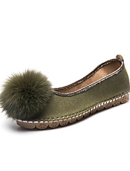 Women's Shoes Suede Fall Winter Light Soles Flats Flat Heel Round Toe For Casual Dress Almond Army Green Black