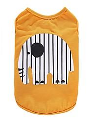 Собака Футболка Жилет Одежда для собак Для вечеринки На каждый день День рождения Праздник Мода Свадьба Спорт Животные Желтый Синий