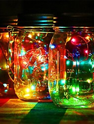1pcs водить diy свет шнура солнечная батарея работая mason jar крышка вставка медь фея прокладка провода наружная вечеринка украшения ночи