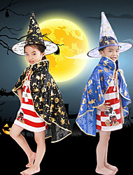 Unisex Children Halloween Sorceress Costume Witch Cloak Cosplay Role Play Show Carnival Thanksgiving Day Masquerade Party Dress