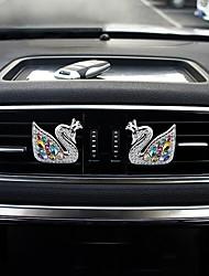 voiture air sortie grille parfum couronne cygne une paire de zinc alliage matériel purificateur d'air automobile