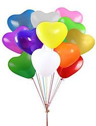 globos del partido globos del corazón 12 globos del látex de la pulgada 100 paquetes para las fuentes del partido de los cabritos
