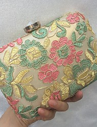 New Women's Fashion Luxury Lace Flower Formal Event/Party Wedding Evening Bag/Handbag/Clutch with Diamonds