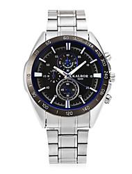 Homens Relógio Esportivo Relógio de Moda Japanês Quartzo Mostrador Grande Lega Banda Legal Casual Elegantes Prata