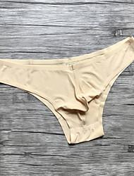 Men's Sexy Solid Briefs  Underwear,Nylon Spandex
