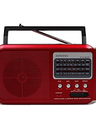 ST-2139 Radio portatil Reproductor MP3 Tarjeta SDWorld ReceiverNegro Gris Rojo