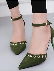 Damen Schuhe Nubukleder Sommer Komfort Pumps High Heels Für Normal Schwarz Gelb Armeegrün Rosa