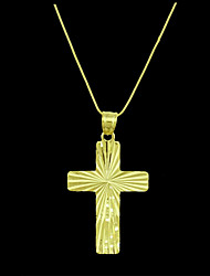 Men's Pendants Cross Gold Plated Metal Costume Jewelry Jewelry For Daily