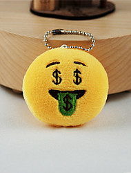 New Arrival Cute Emoji Dollars Face Key Chain Plush Toy Gift Bag Pendant