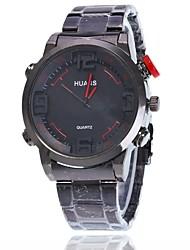Mulheres Relógio Elegante Relógio de Pulso Chinês Quartzo Mostrador Grande Lega Banda Pendente Casual Elegantes Preta Prata