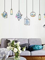 Цветочные мотивы/ботанический Романтика Мода Наклейки Простые наклейки Декоративные наклейки на стены материал Украшение дома Наклейка на